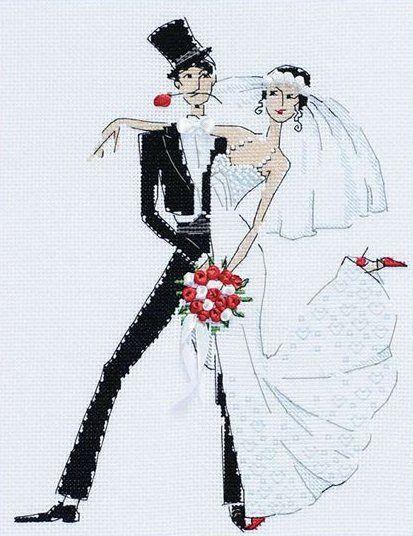 Свадебное танго   Схема вышивки   Скачать