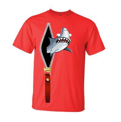 Tshirt Zipper Shark Red