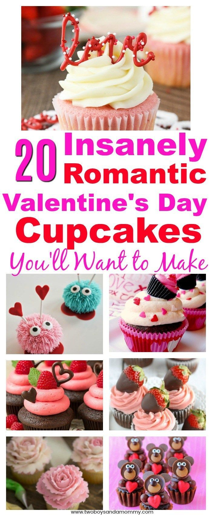 20 Romantic Valentine�s Day Cupcakes You�ll Want to Make   Inspiration for Adorable Valentine's Day Cupcakes for your Sweet Heart #valentinesday #cupcakes #dessert #delicious #adorable #creative #love