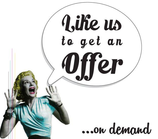 """Facebook """"Offer on demand"""" tab design. #offer #demand #tab #facebook #design"""