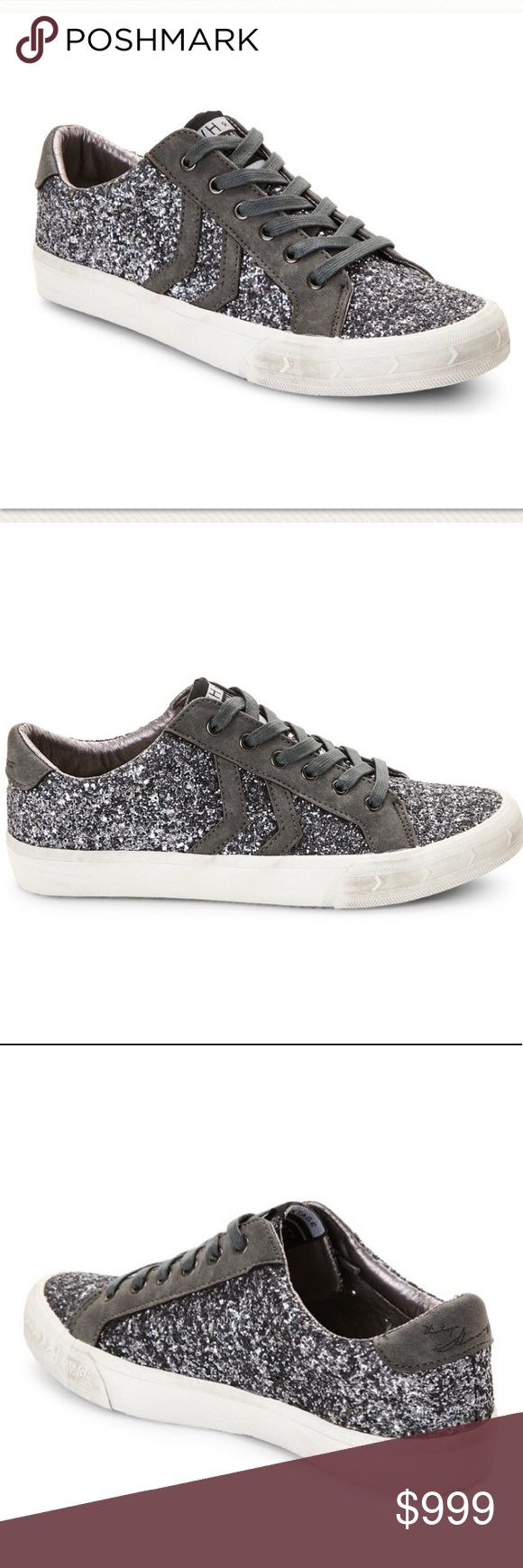 Vintage Havana Pewter Sneakers Authentic new with box Vintage Havana Future Sparkle Pewter Liw Top Sneakers. Glitter upper, round toe, faux suede overlays, lace up closure Interior lining, lightly cushioned insole, padded collar, vintage style sole Accompanied by dust bag Man made upper/lining/sole Imported. Women's Size 7. ❗️No Trade❗️ Vintage Havana Shoes Sneakers