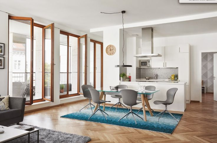 BoConcept 2015 Collection––Adelaide Dining Chairs––Conda Rug––Monza Extendable Dining Table. *All products available in different materials and surfaces.  http://www.boconcept.com/en-nz/