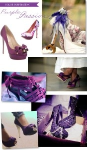 Purple wedding shoes - Add a pop of colour with purple wedding shoes