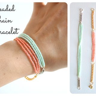 Tutorial: beaded chain bracelet  by jessyratfink
