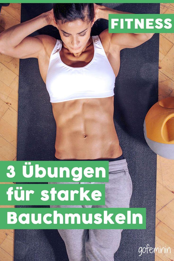 3 simple Übungen für starke Bauchmuskeln