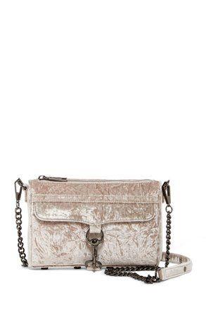 b2eac652015 Rebecca Minkoff Mini Mac Putty Velvet Cross Body Bag 48% off retail ...
