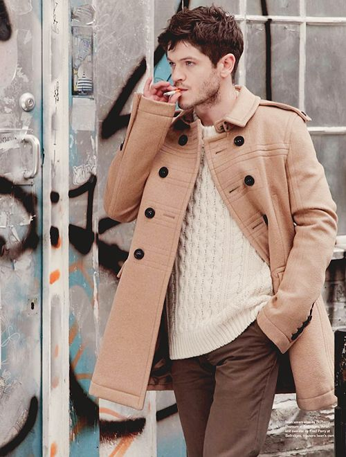 SHADES OF BROWN | Iwan Rheon. coat