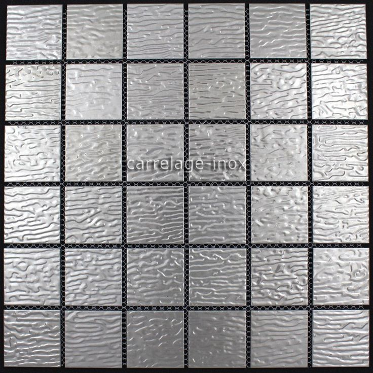 13,33 €   http://www.sygma-group.com/en/stainless-steel-mosaic/83-stainless-steel-tiles-kitchen-backsplash-mi-stu-3760227381036.html   Length: 11,73 in, Width: 29,8 cm, Depth: 5 mm, material: Stainless steel 304, tile size: 4,8 x 4,8 cm, Quantity: 1 plaque, surface: 0,09 m2   We offers you its products to help you create your stainless steel kitchen sideboard and your walk in shower.  Delivery by Colissimo international: Europe 4-5 days Other countries upon request