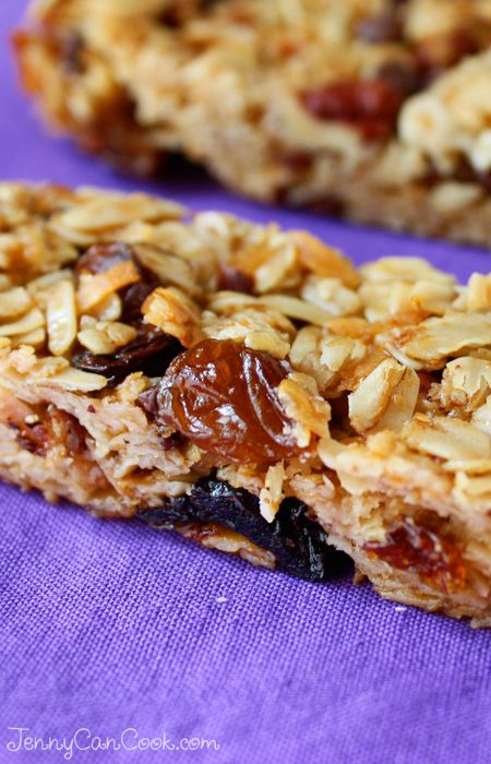 Granola Bars recipe from Jenny Jones (JennyCanCook.com) - So easy… everything in one bowl… done.