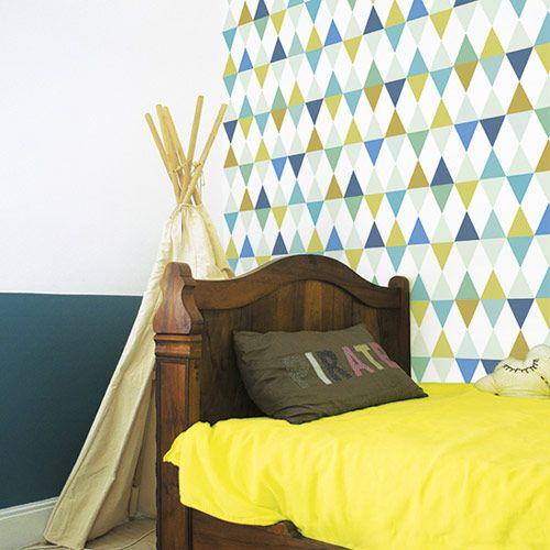 17 meilleures images propos de papier peint sur pinterest bazars motif r tro et design dr le - Chambre jaune et blanche ...