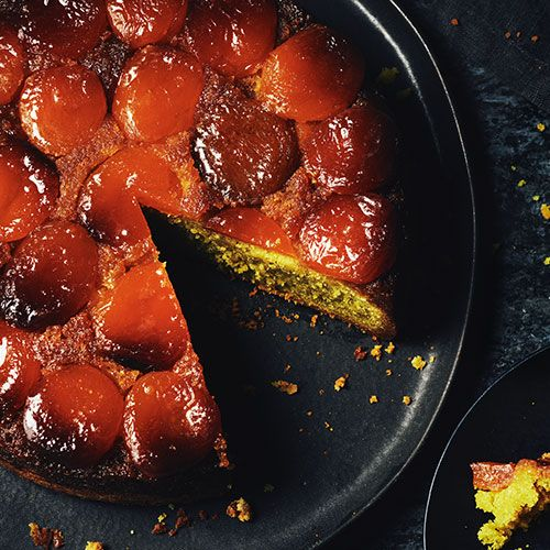 An upside down caramelized apricot-topped pistachio cake, this exceptional dessert is as delicious as it is beautiful. Slice and enjoy as is, with a dollop of whipped cream or scoop of PC Black Label Madagascar Bourbon Vanilla Ice Cream.