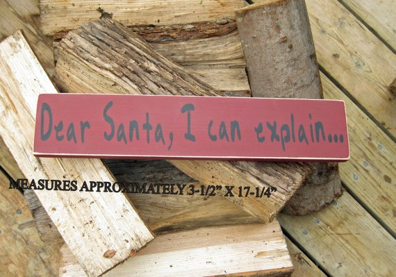 Santa letter handpainted sign by ChristineSherriffs on Etsy, $35.00