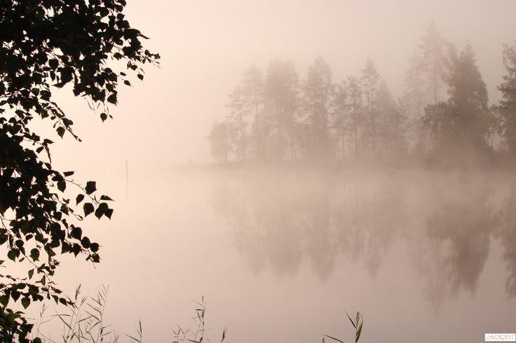 #foto #lake #morning #mist #finland #august #Konnevesi #valokuvaus#järvi #aamu #elokuu #suomi