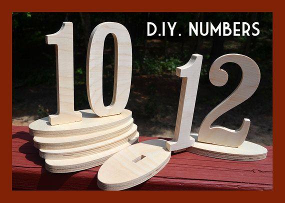 DIY Wedding Table Number Kit - Wood Numbers - Craft, price per Number 1-30 | WeddingCraftShop | $129.00