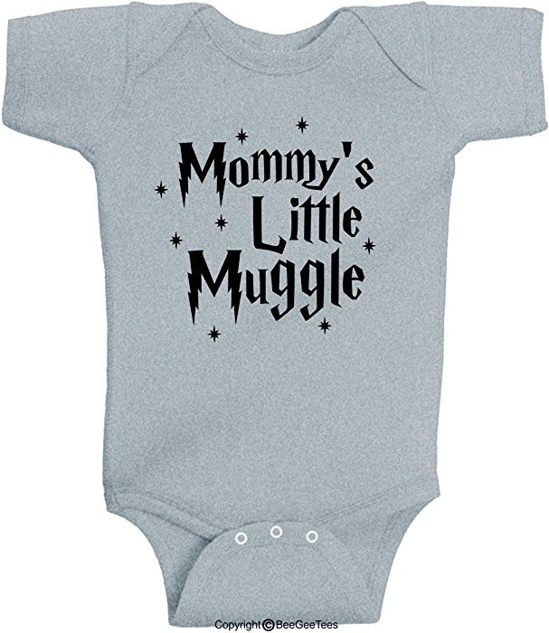 054ed2cd2a0 Amazon.com  BeeGeeTees Mommy s Little Muggle Cute Harry Potter Baby Romper  Wizard Onesie (Newborn