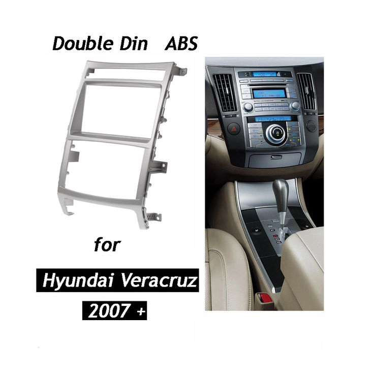 Double Din Car Radio Fascia for HYUNDAI iX-55 Veracruz Stereo Dash Kit Fit Installation Trim Facia Face Plate Panel DVD Frame #Affiliate