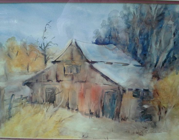 33 best art of old barns images on pinterest old barns for Watercolor barn paintings