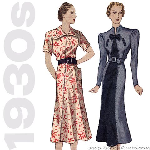 Simplicity 2349. 1930s Sewing Pattern. 1930s Dress Vintage Pattern. – WeSewRetro