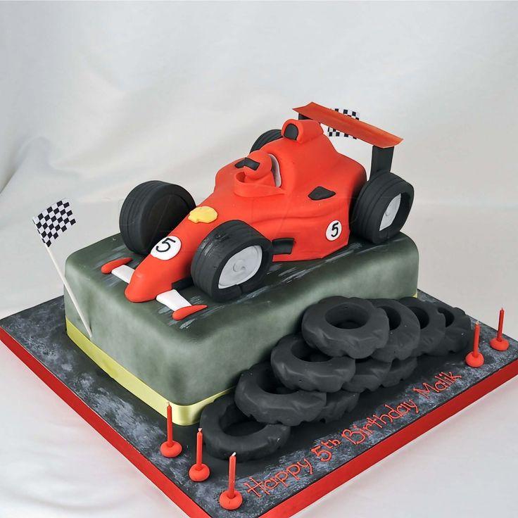 Car Track Birthday Cake