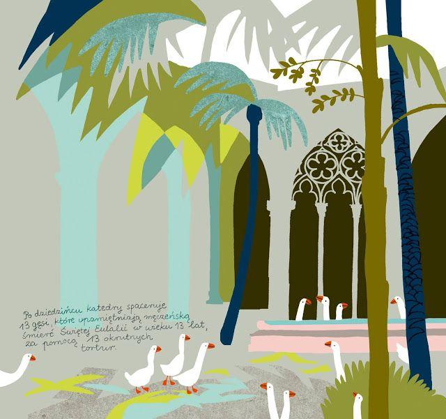 polska ilustracja dla dzieci: Nowość - Barcelona dla młodych podróżników
