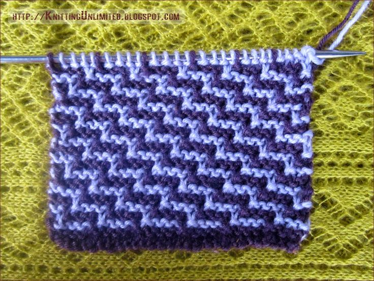 78 best images about Knit. Stitches: Slip stitches two colors on Pinterest ...
