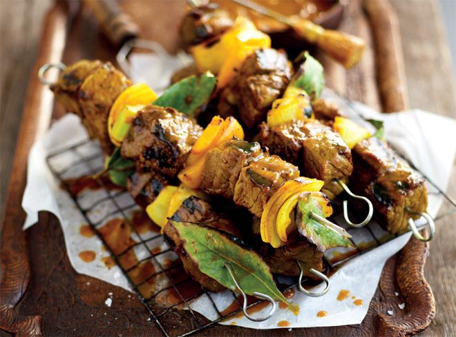 Lamb sosaties on the braai recipe