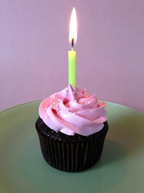 1 Year Anniversary of My Blog - cupcake!