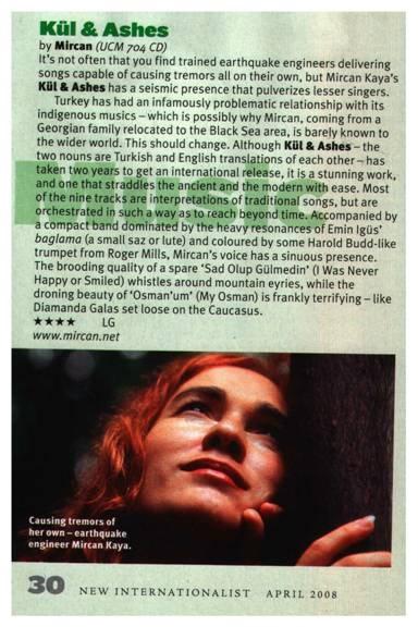 Mircan  Kül & Ashes  New Internationalist review