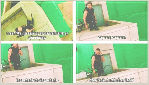 gag reel Hawkeye to Enterprise. The man clearly knows nothing about Star Trek.