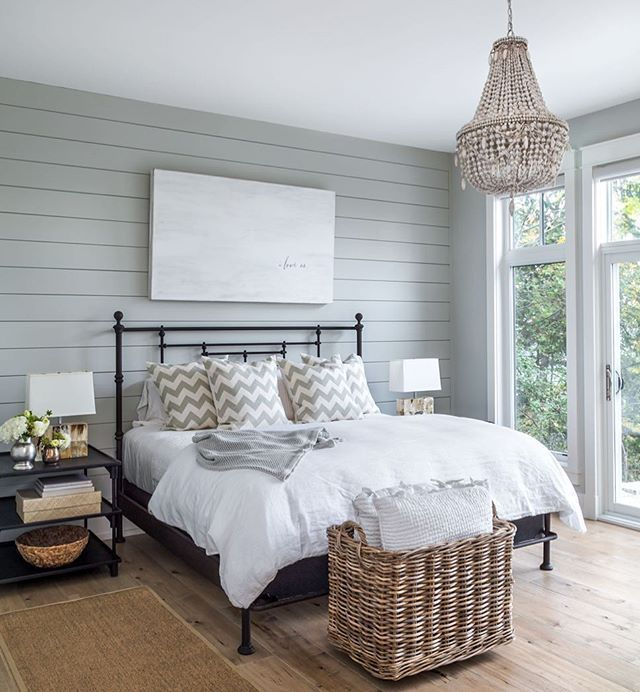 Love The Shiplap Accent Wall Maybe For Master In 2019