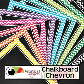 Chalkboard Chevron contains 20 chevron framed, chalkboard backgrounds.  10 U.S. Letter size and 10 square size with 10 different colors.  Place text and clip art over the top to create fun product covers, worksheets, activities, posters and other teaching resources.