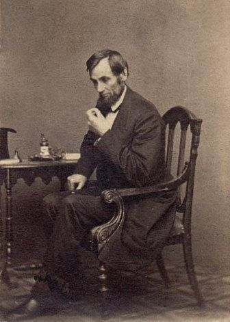Abraham Lincoln photographed by Mathew Brady in 1861. #abrahamlincoln  #civilwar
