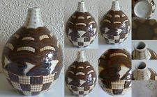 A2468@ THARAUD VASE ART DECO DECOR GEOMETRIQUE STYLISE