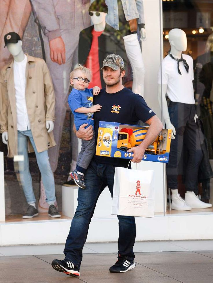 Celebs and their cute kids in 2016:       Chris Pratt stepped did a little shopping with son Jack Pratt at The Grove in Los Angeles on Feb. 21