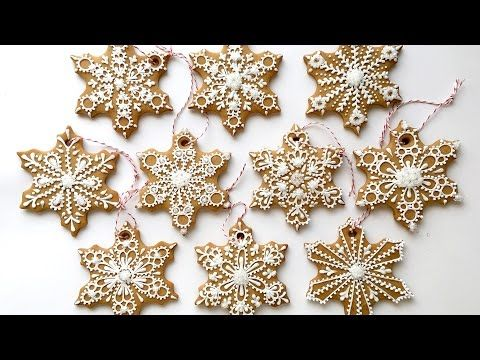 How To Decorate Snowflake Cookies! - YouTube