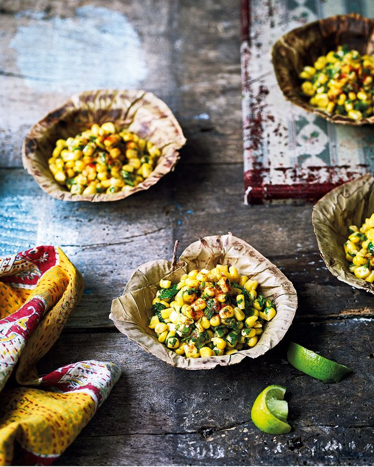 ''There aren't many ingredients here but the flavours are perfectly balanced. Sweetcorn goes well with the sourness of chaat masala.'' – Chetna Maka