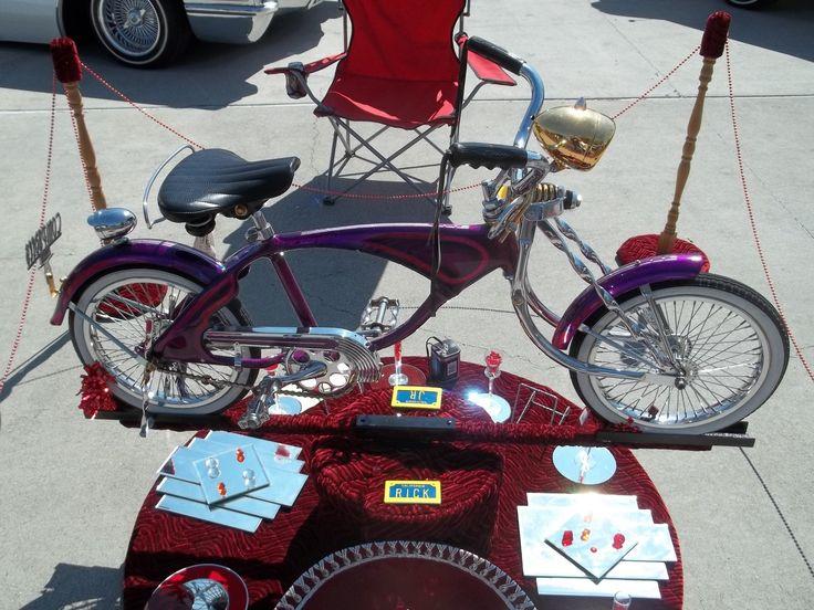 Purple Lowrider Bike