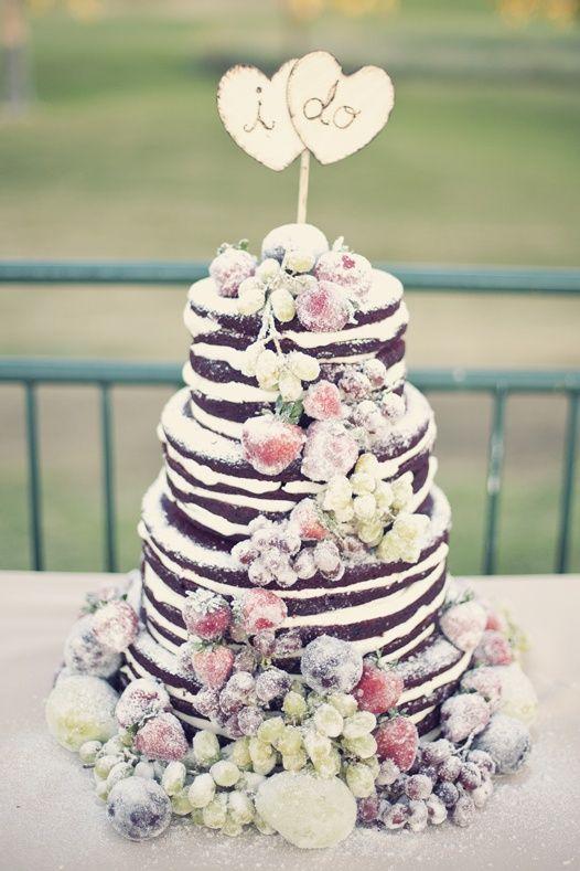 11 Fab Naked Wedding Cakes – Blissfully Wed