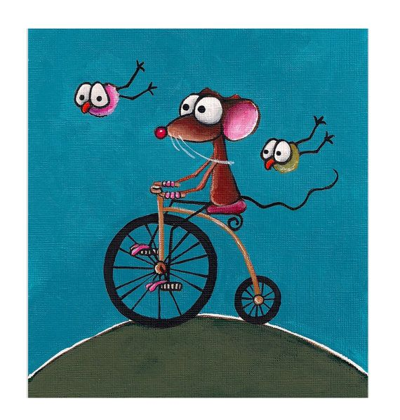 Mouse on a bicycle