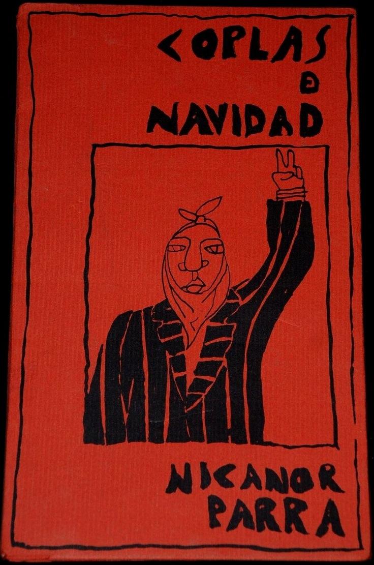 """""""Coplas de Navidad"""" de Nicanor Parra. Con ilustraciones de Oscar Gacitúa. Impreso en diciembre de 1983."""