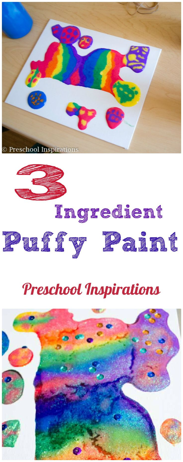 puffy paint craft ideas paint recipe on canvas paint process 5297