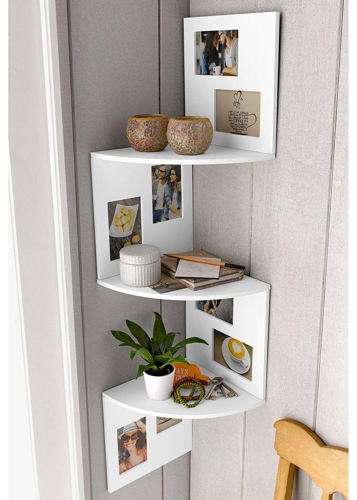 Commandez maintenant étagère dangle avec cadres photos blanc bpc living à partir