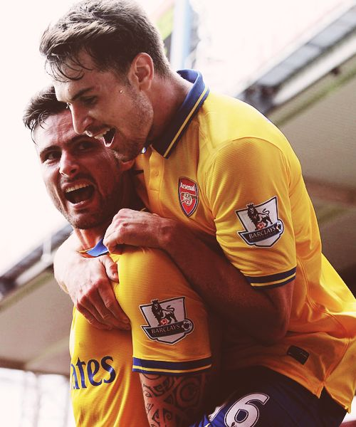 Aaron Ramsey and Olivier Giroud