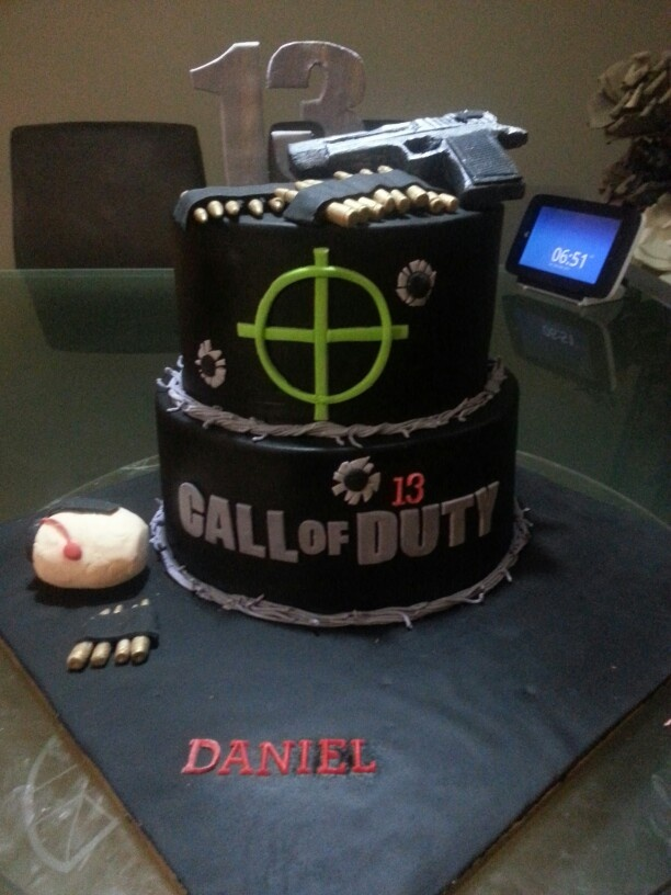 C.O.D Black Ops Cake: Julian's 5th birthday!