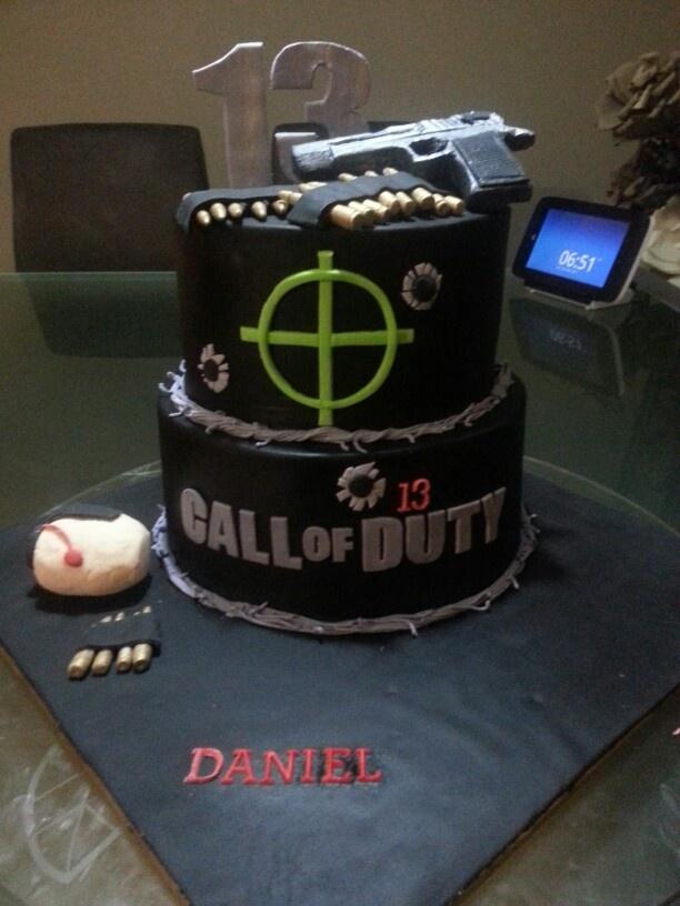 C.O.D Black Ops Cake: Julian's 5th birthday!