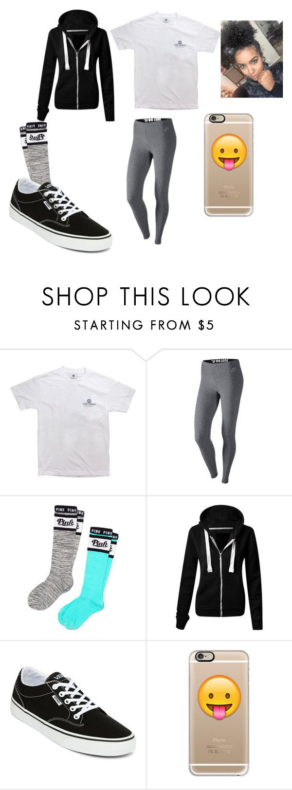 """""""OMG Black Friday shopping was real y'all"""" by chanel-xoxo123 on Polyvore featuring NIKE, Victoria's Secret PINK, Vans and Casetify"""