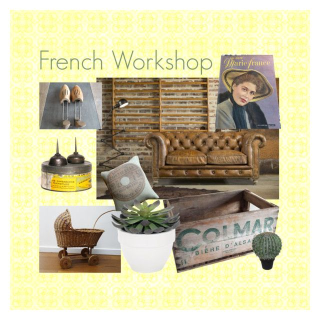 """French Workshop"" by feelingofdejavu ❤ liked on Polyvore featuring interior, interiors, interior design, home, home decor, interior decorating, Amie, Cadeau, Torre & Tagus and Abigail Ahern"