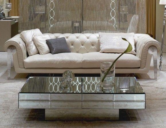 Perfect Visionnaire IPE Cavalli Acer Luxury Designer Italian Coffee Table In  Beveled Glass
