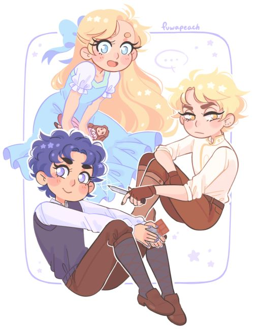 """fuwapeach: """" phantom blood babies !! ☆ i wanted to give each of them an item but really i just felt like drawing my problem child with his little knife again """""""