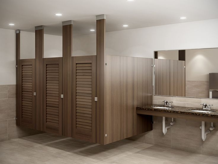 19 best louvered toilet partitions images on pinterest for Louvered bathroom stall doors